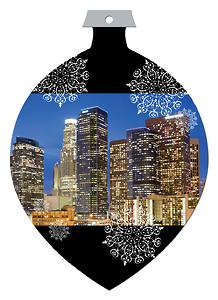Los Angeles Die Cut Ornament