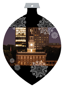 Philadelphia Die Cut Ornament