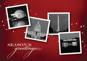 Washington DC Landmarks with Stars - Merlot