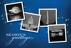 Washington DC Landmarks with Stars - Navy