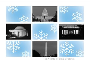 Washington DC Snowflakes