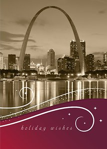 St. Louis City Swirls - Burgundy