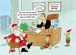Santa with Financial Advisor