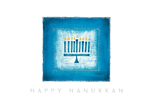 Menorah in Blue