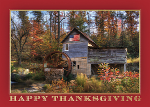 Patriotic Thanksgiving Scene