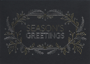 Season's Greetings Line Art