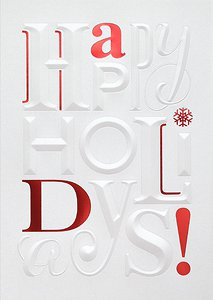 Embossed Holidays