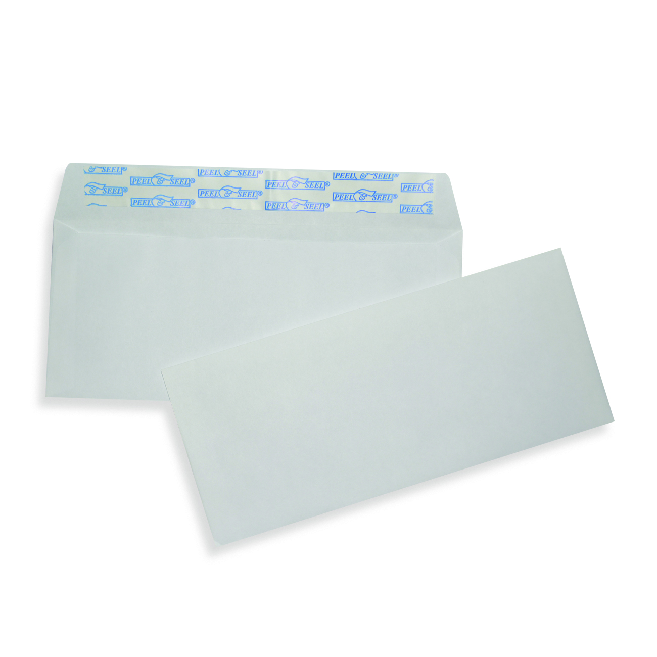 "White Wove Business Envelopes 4 1/8"" x 9 1/2"", #10, 24 lb. White Wove Commercial Envelope, Pull & Close, 500/BX"