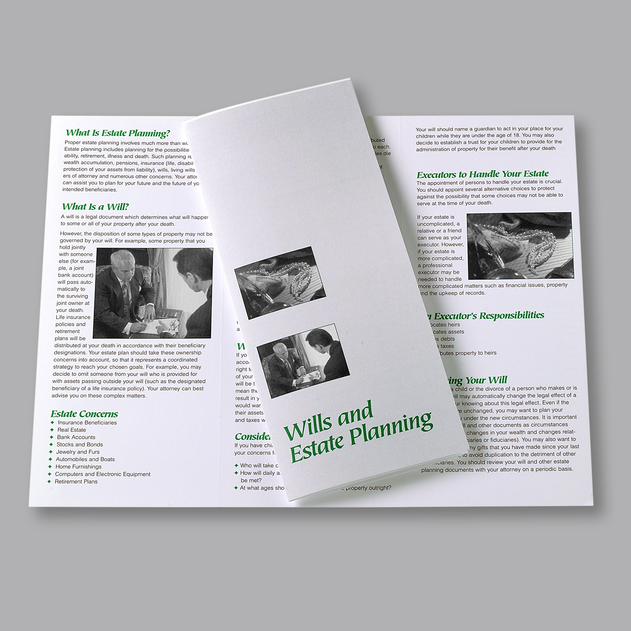Wills and Estate Planning Practice Area Brochure Wills and Estate Planning Practice Area Brochure, Letter Size, Tri-Fold