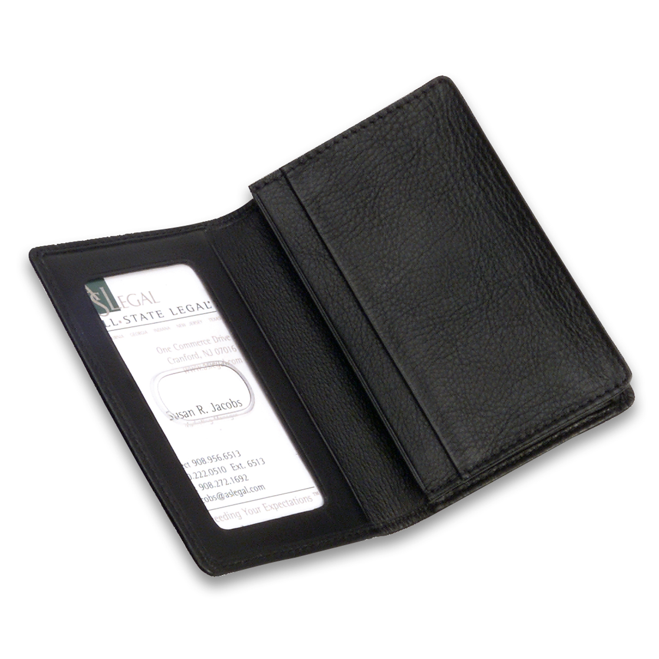 Personal Black Napa Leather Business Card Holder