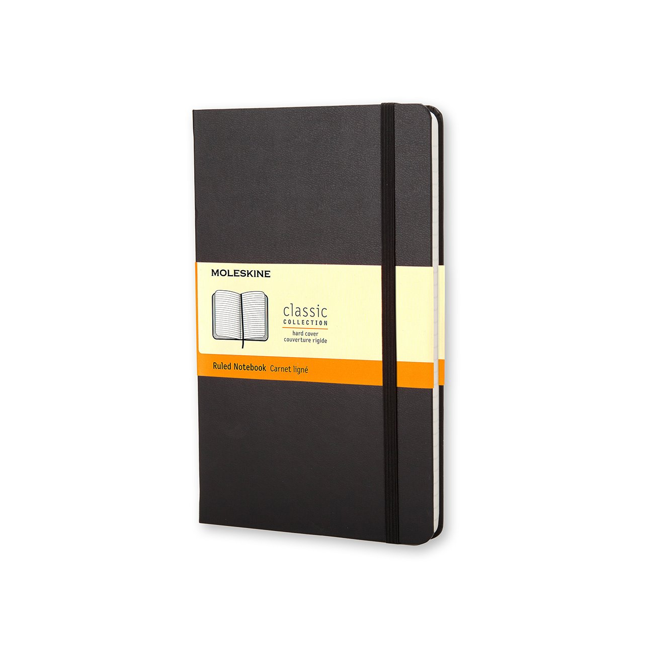 "Moleskine Classic Notebook - Large Hard Cover 5"" x 8 1/4"", Large Hard Cover, Black, Classic Moleskine Notebook, 96 Sheets, 1/EA"