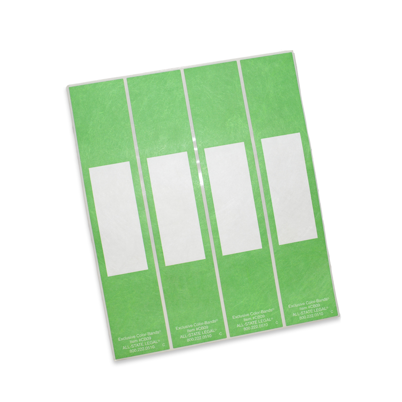 Color-Bands File Pocket Handles Green Color-Bands Color Coding Handle, 100/PK