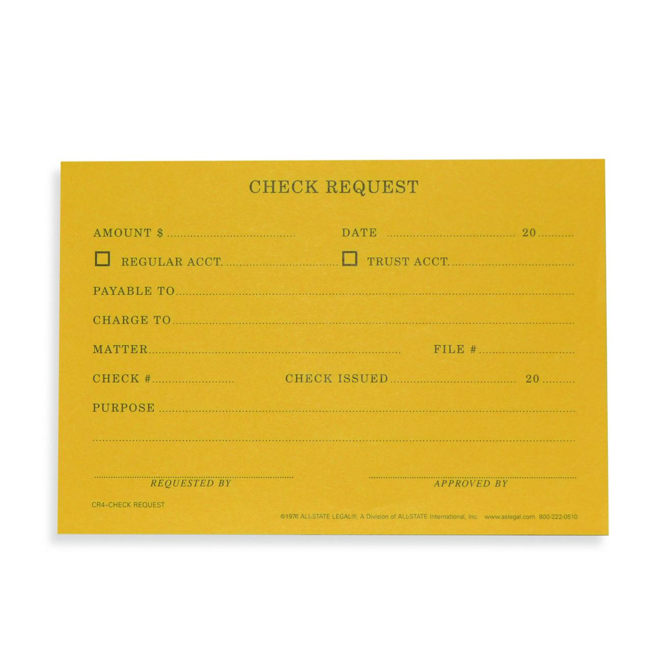 Check Request Record/Rite Forms