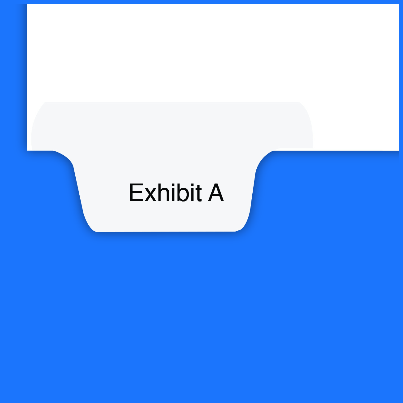 "ALL-STATE Style Exhibit Dividers, Letter Bottom Tab ""Exhibit A"