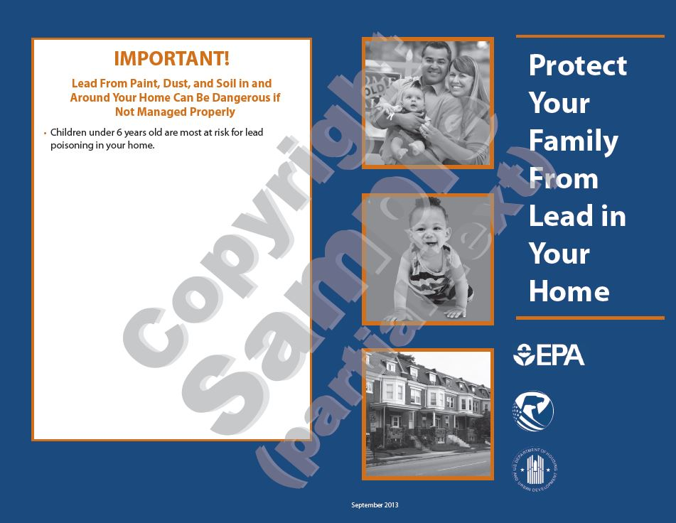 EPA Lead in Your Home Brochure