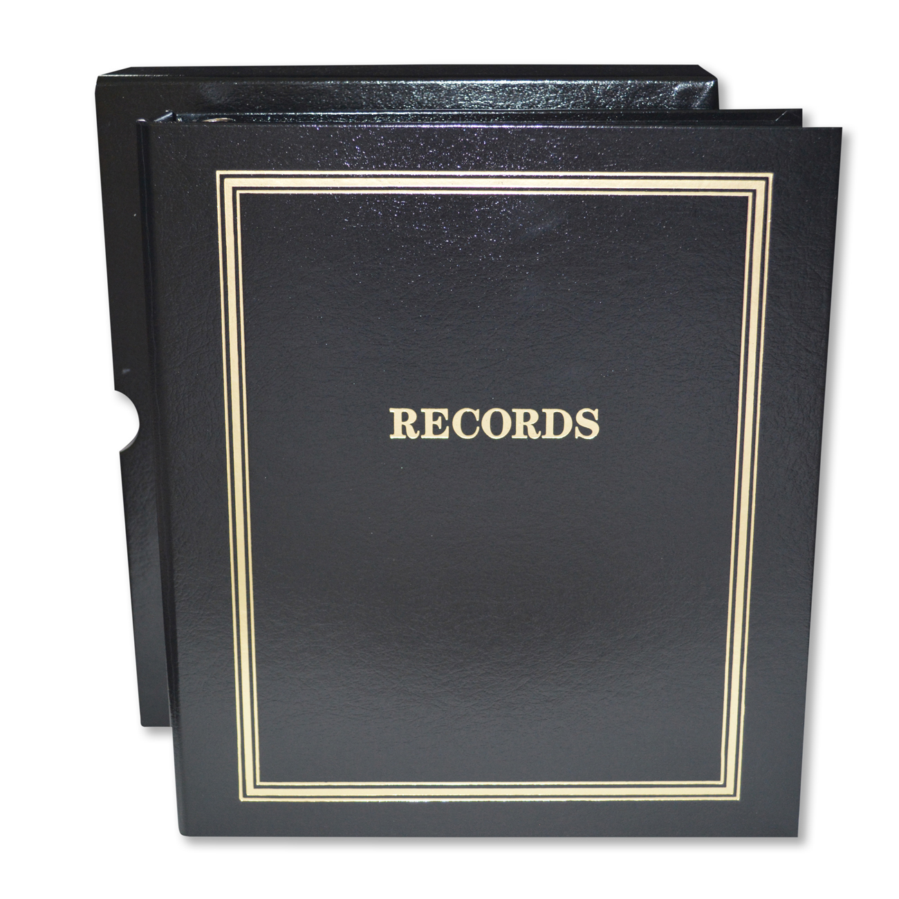 "Estate Planning ""Records"" Portfolio Black Binder, Foil-Stamped ""Records"", 1/EA"