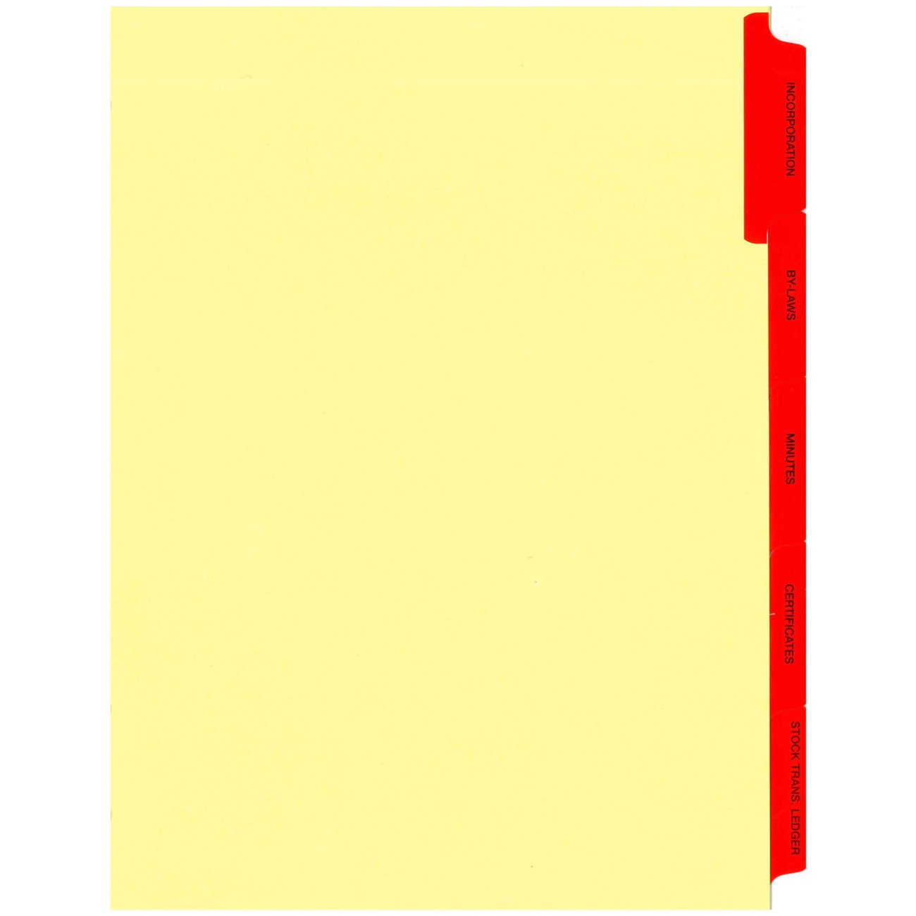 Index For Minute Book, 5 Part, Red