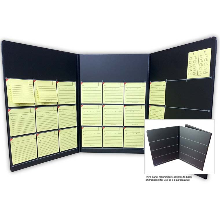 The Jury Case Voir Dire Organizer Jury Case - Complete Kit - Includes 3-Panel Jury Selection Grid (1 EA), Juror Tags (2 Pads), Supplemental Tags (2 Pads), Peremptory Tags (1 pad), 10 Panel Cards & 1 Jury Poll Pad - 1/Set