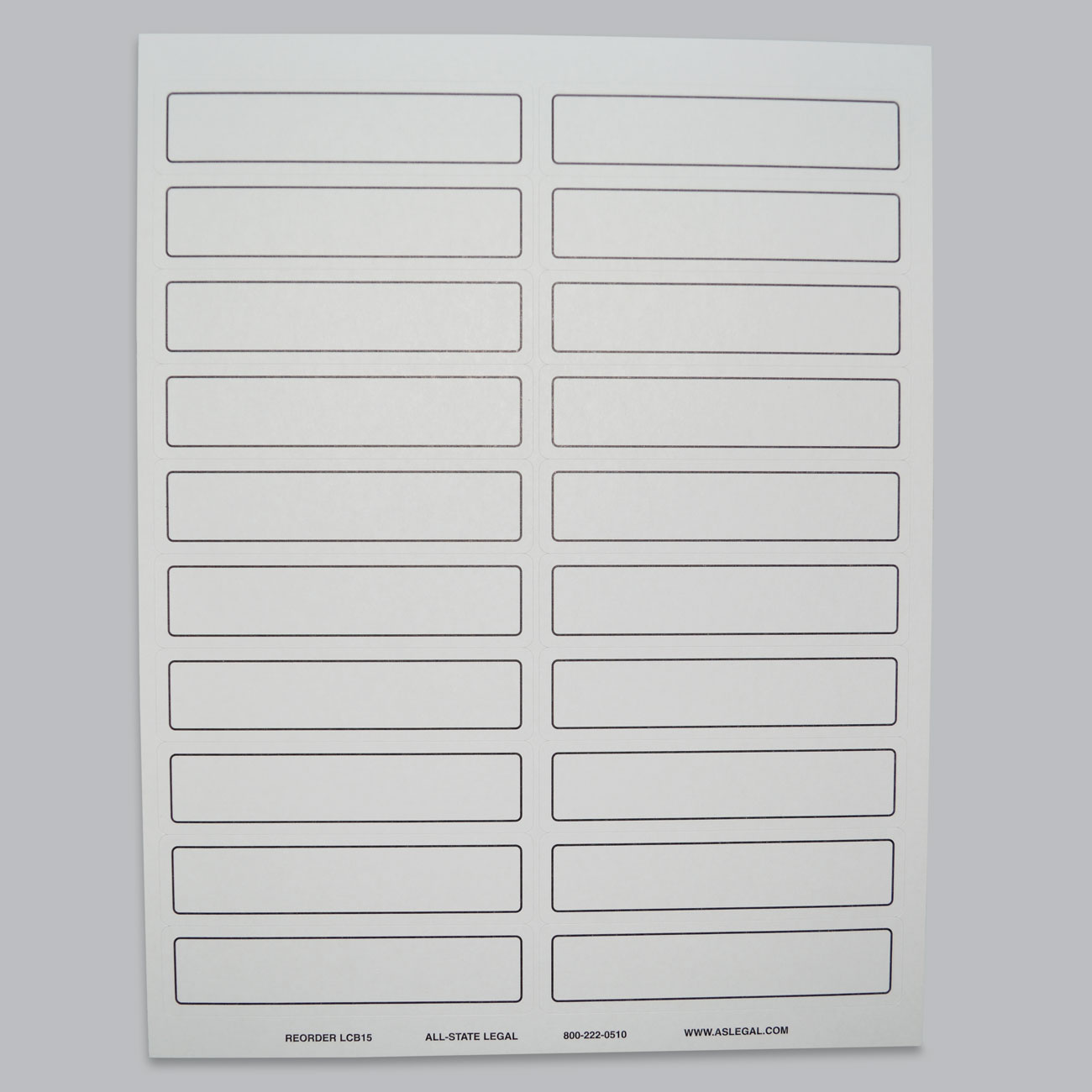 "File Folder Labels Label, 4"" x 15/16"", White Self-Adhesive File Folder Laser Label, 20 Labels/Sheet, 500 Labels/PK (Matches Color-Bands)"