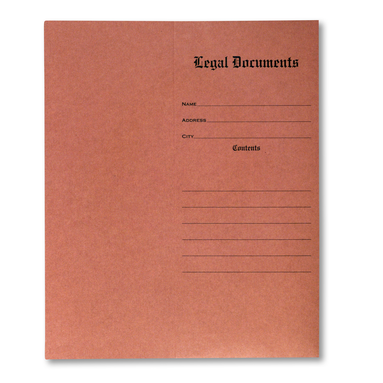 "Legal Document Envelope 4 1/2"" x 10 3/8"" Legal Document Red Fiber Envelope Recycled, 10% PCW"