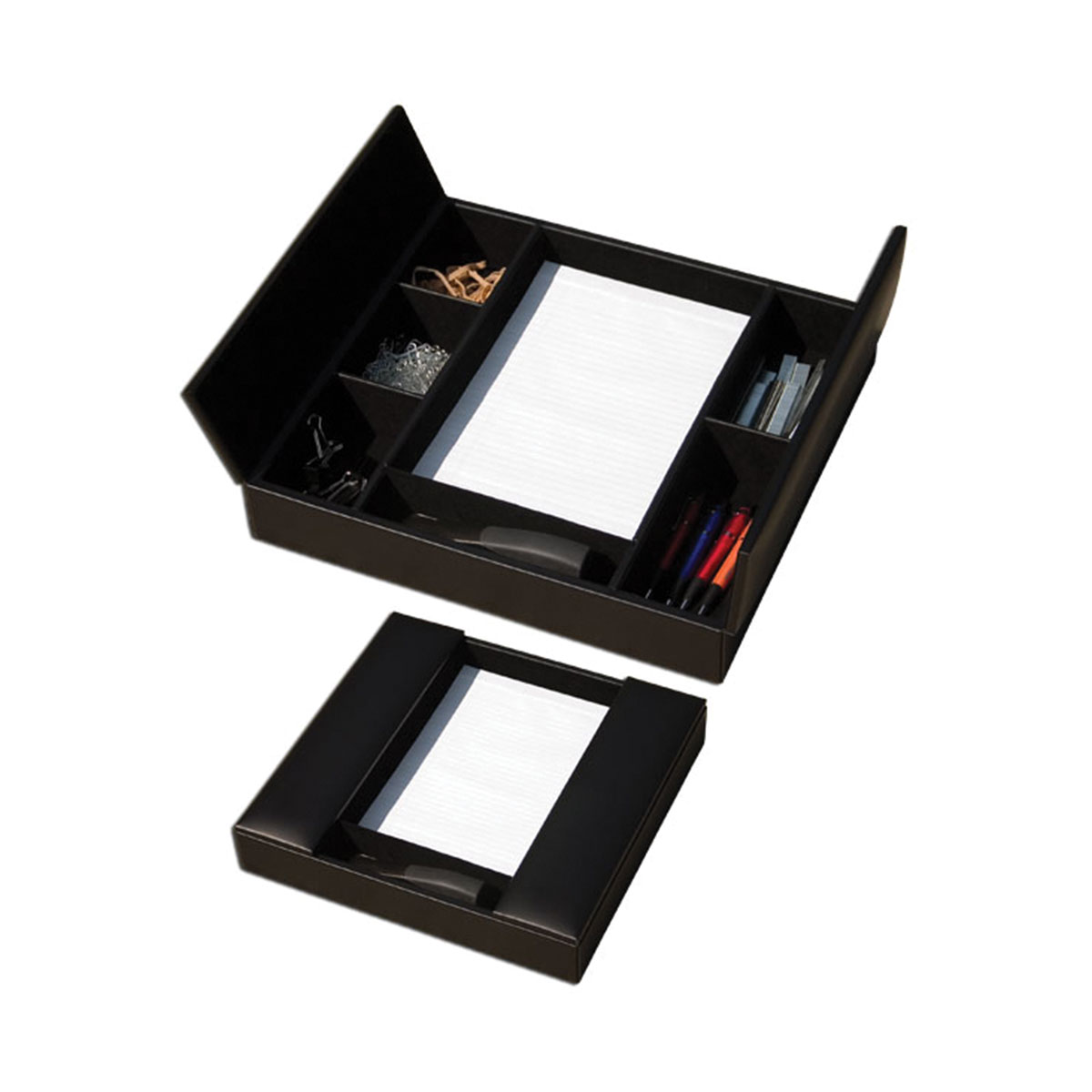 Deluxe Pad & Pen Organizer - Chocolate Brown