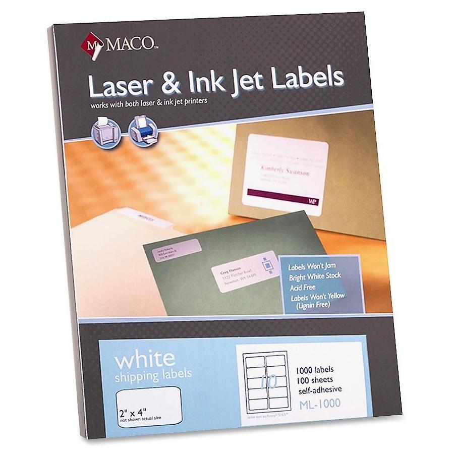 White Laser Mailing Labels