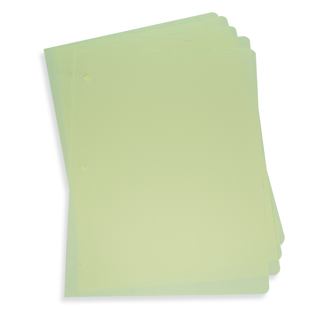 Blank Minute Paper Green Edge