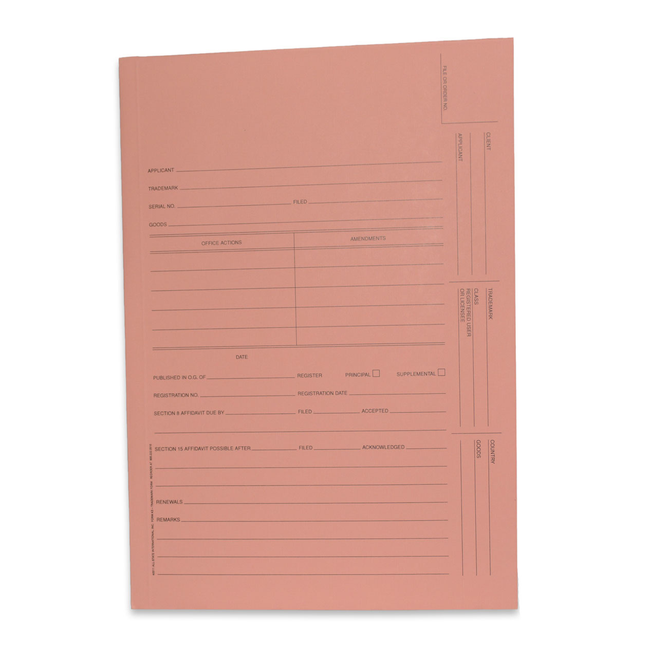 Intellectual Property Folders, Trademark Application