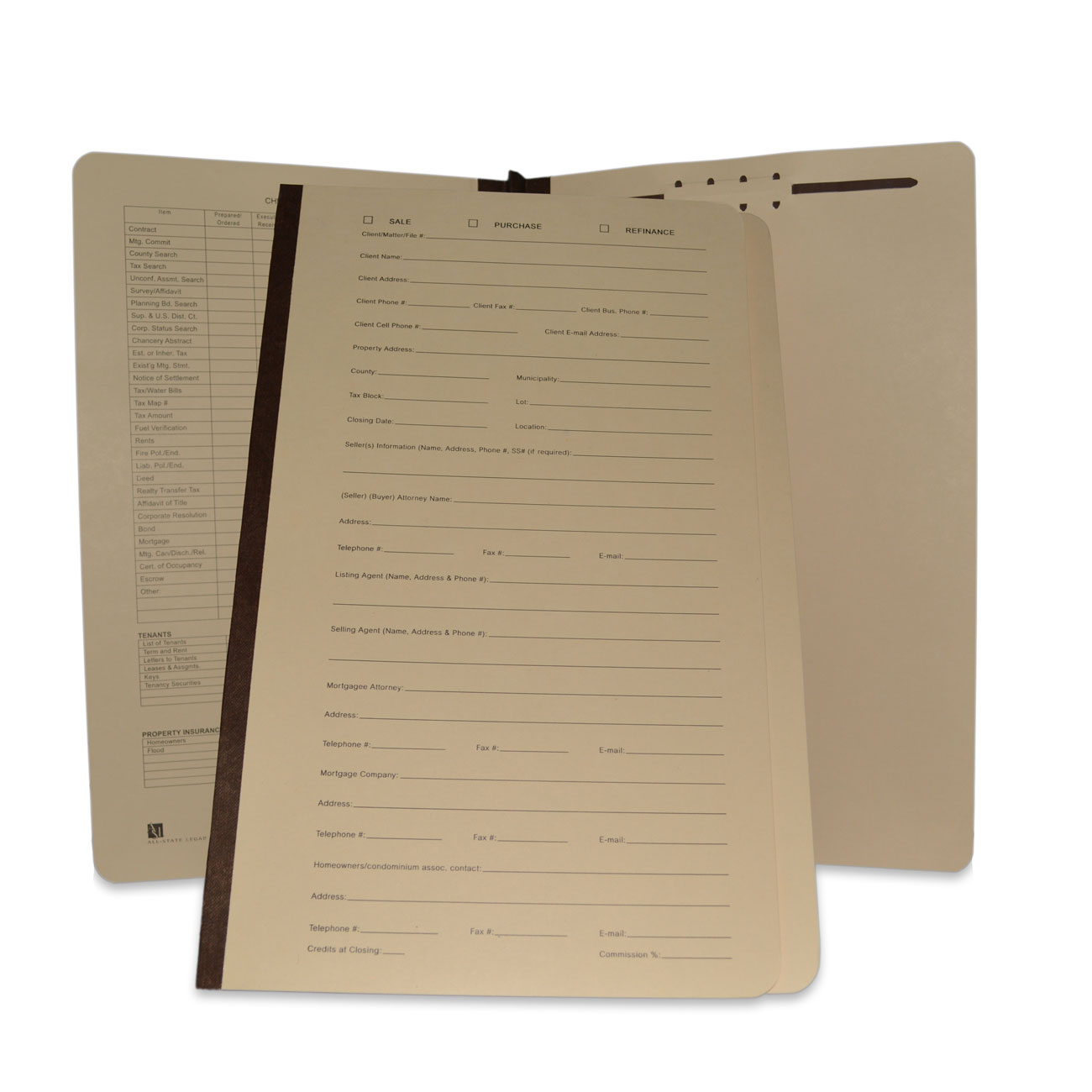 Real Estate Transaction File Folder