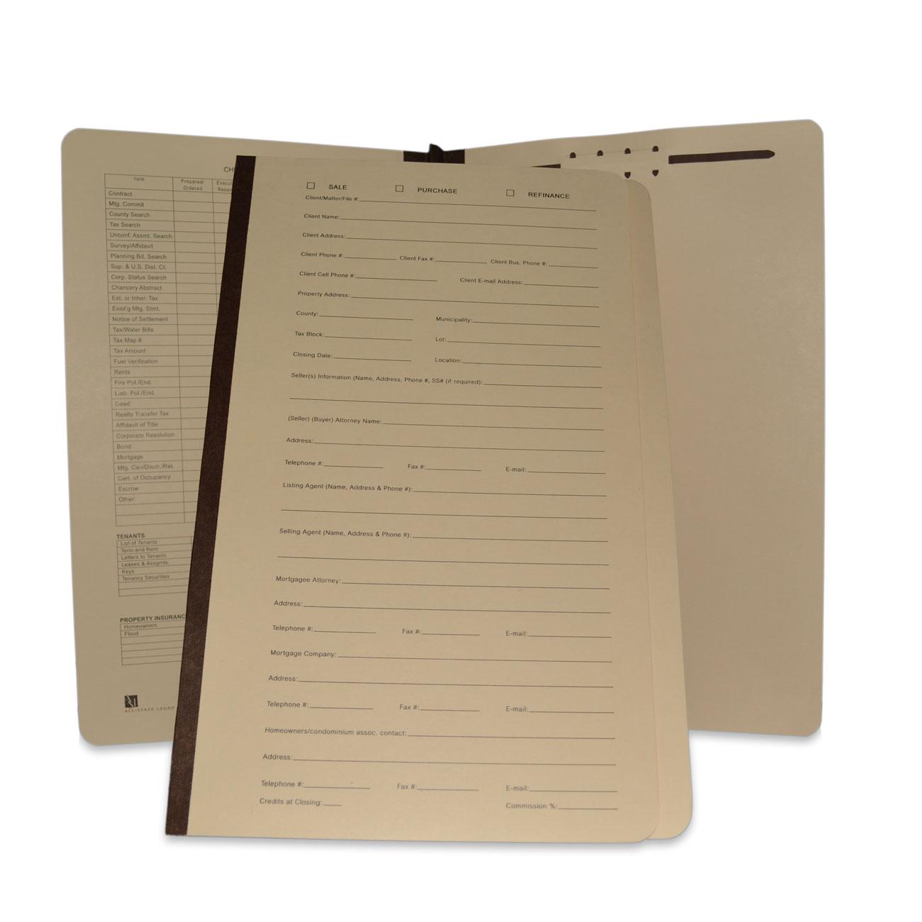 Real Estate Transaction File Folder