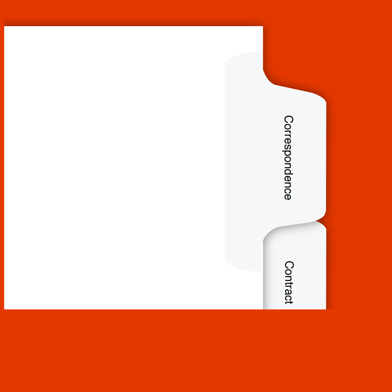 Real Estate Transaction File Tabs Legal, Bottom Tab, Real Estate Exhibit Dividers, 5th Cut, 90% Recycled, 30% PCW, 16 Tabs/PK