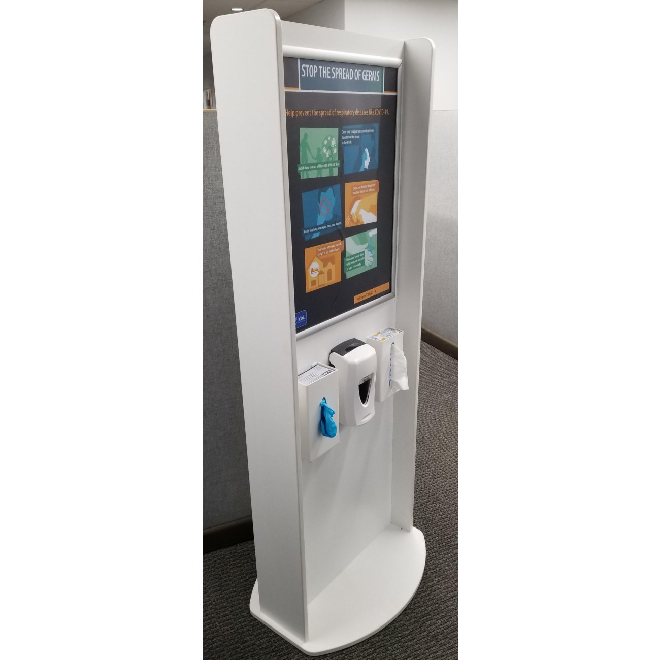 Sanitation Station Hand Sanitizer Dispenser, Glove Dispenser, Tissue Dispenser