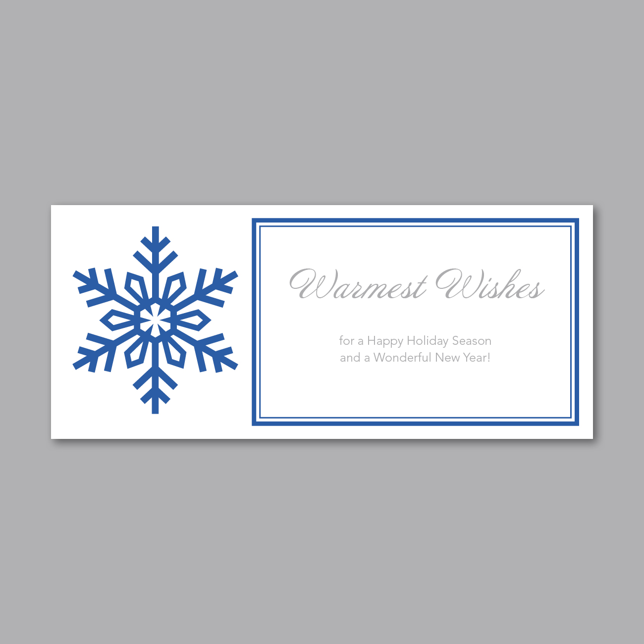 Holiday Greeting Insert - Snowflake Wishes