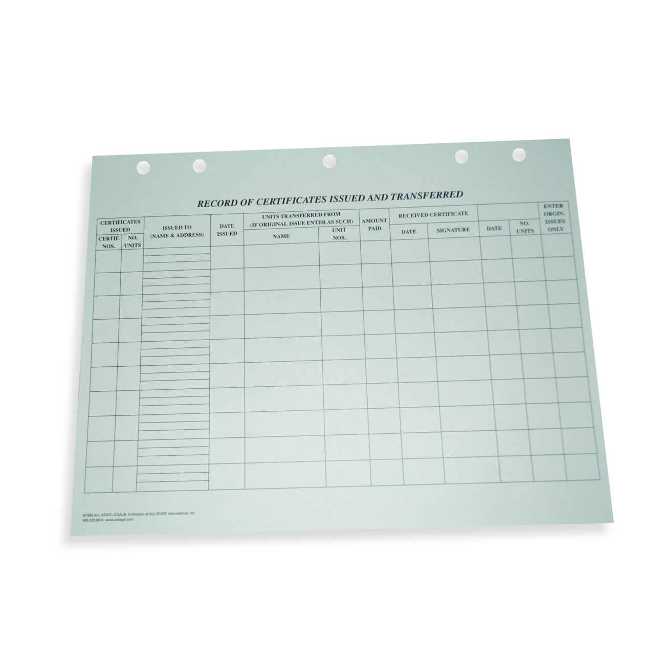 Transfer Journal Transfer Journal, 100/PK