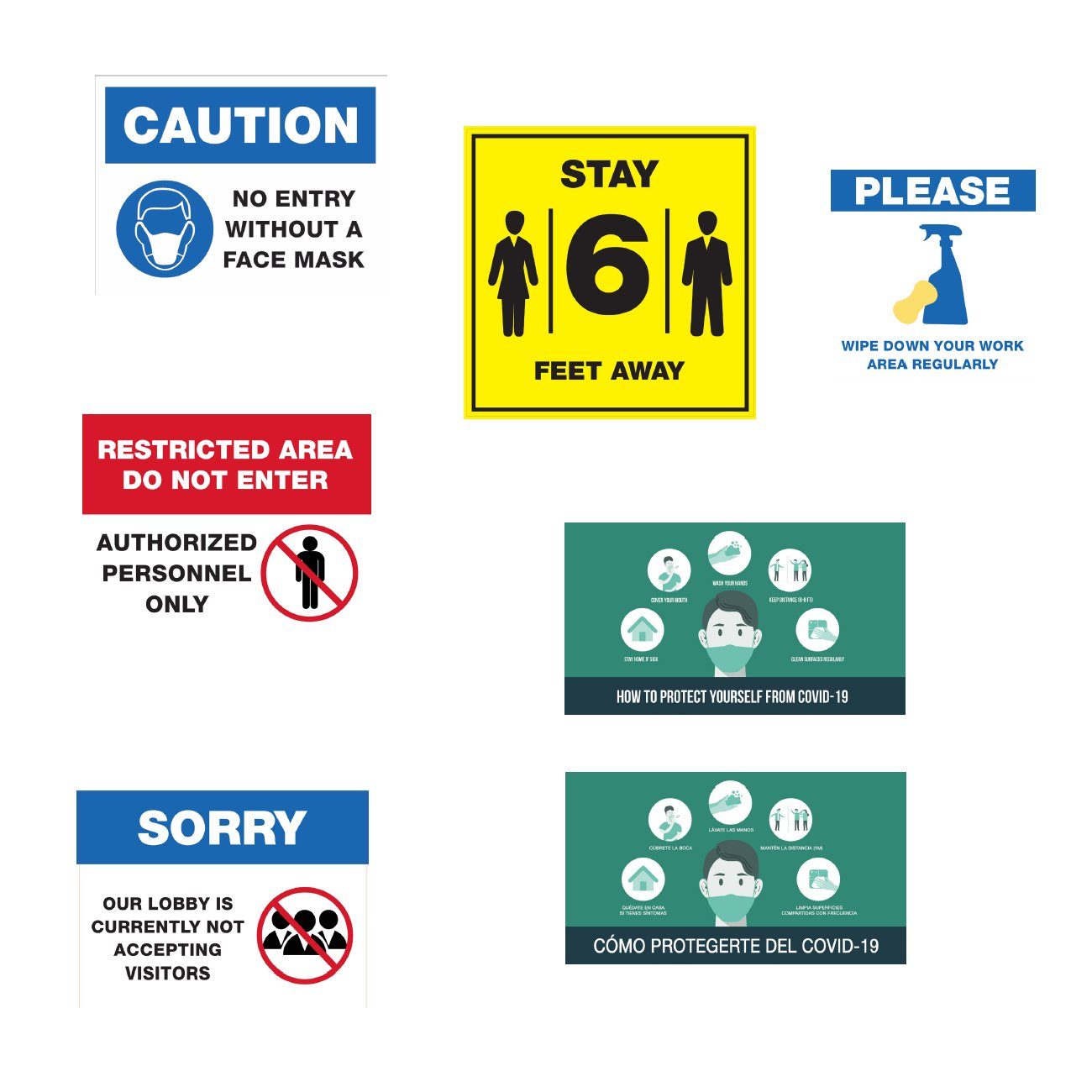 Safety Reminder Wall Decals