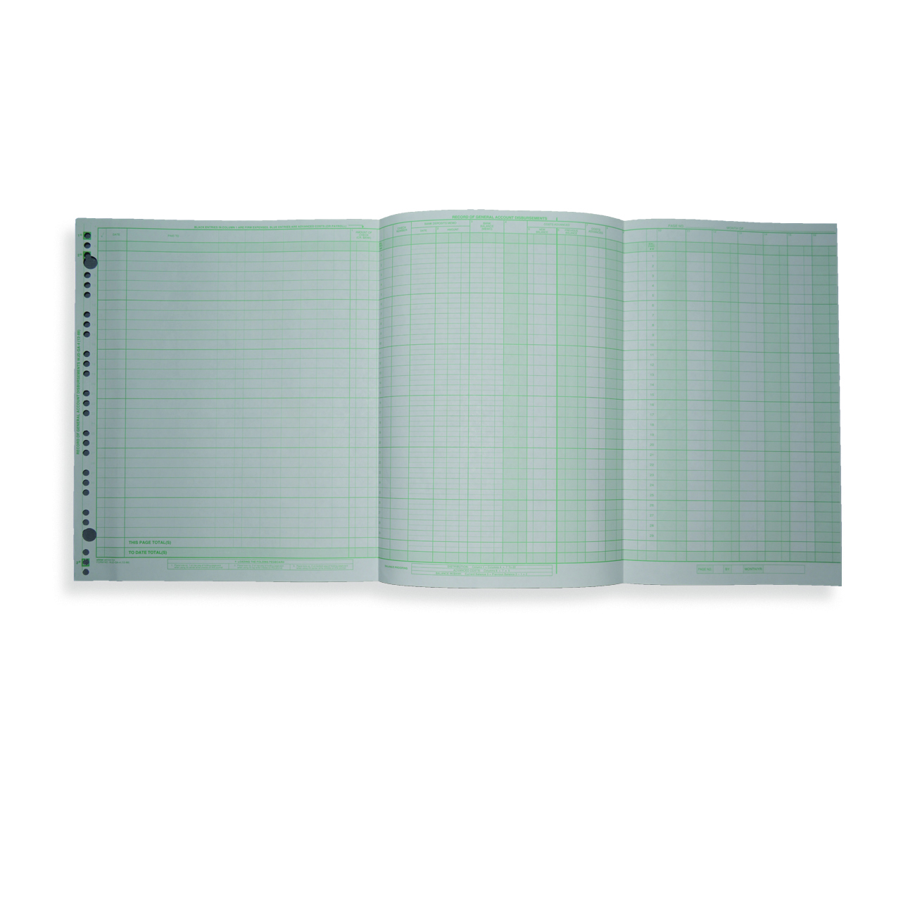 "General Account Disbursement Journal 11"" x 23 5/8"" General Account Disbursement Journal"