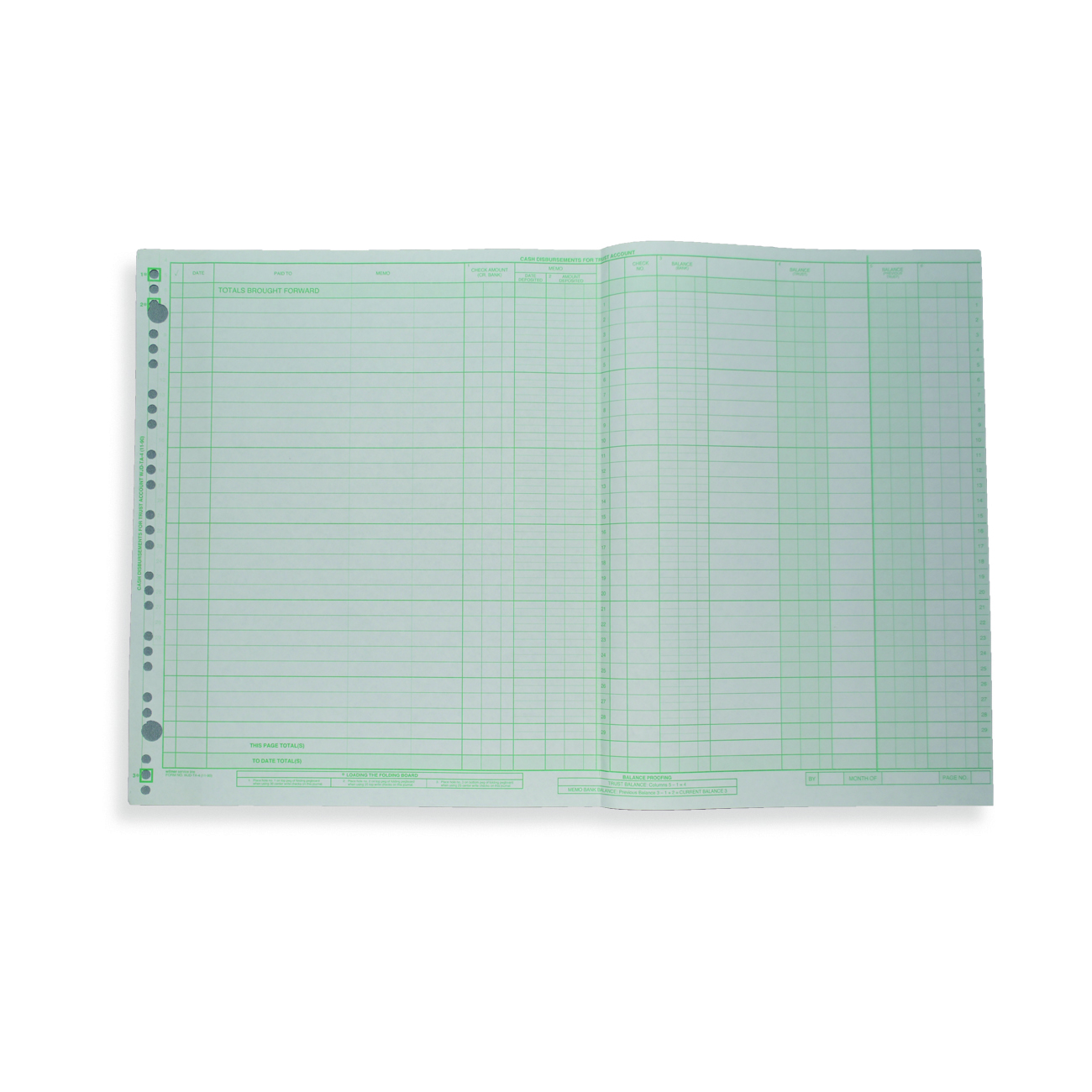 "Trust Account Disbursement Journal 11"" x 17"" Trust Account Disbursement Journal"